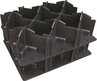 Nivojski zidaki s podpornimi ploščami, 4-delni komplet