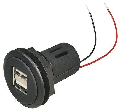 Dvojna vtičnica Power USB 12 - 24 V DC