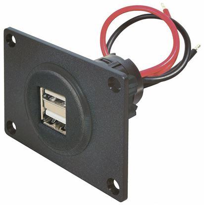 Dvojna vtičnica Power USB z montažno ploščo 12 - 24 V