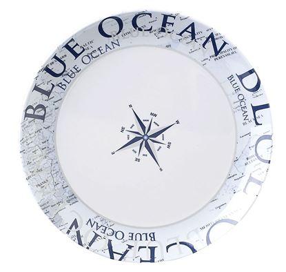 Desertni krožnik, ocean moder