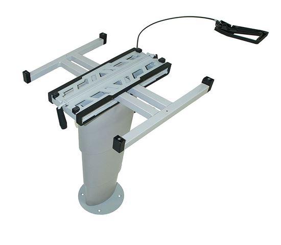Dvižna miza z eno nogo PRIMERO COMFORT HVK barva srebrno-siva