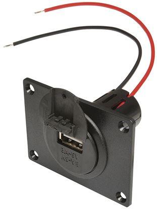 Vgradna vtičnica Power USB z montažno ploščo in pokrovom 12 - 24 V