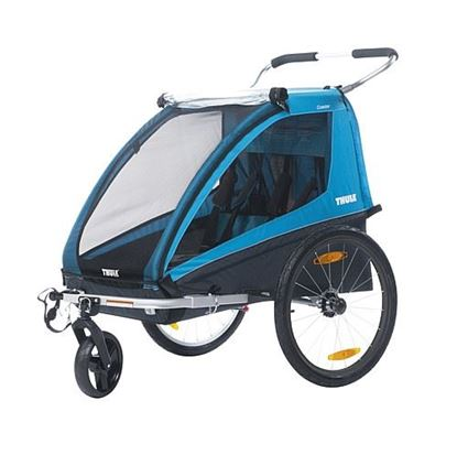 Kolesarska prikolica Coaster XT 2016 modra