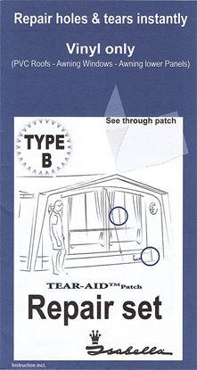 Set za popravilo tip B za PVC tkanino za šotore