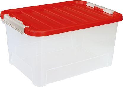Škatla za shranjevanje z rdečim pokrovom