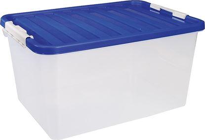Škatla za shranjevanje z modrim pokrovom