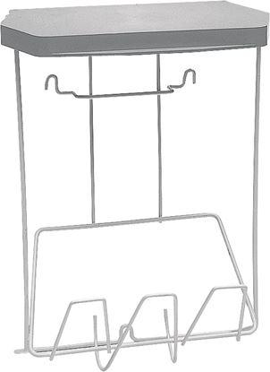 Stojalo za odpadke s pokrovom iz umetne mase