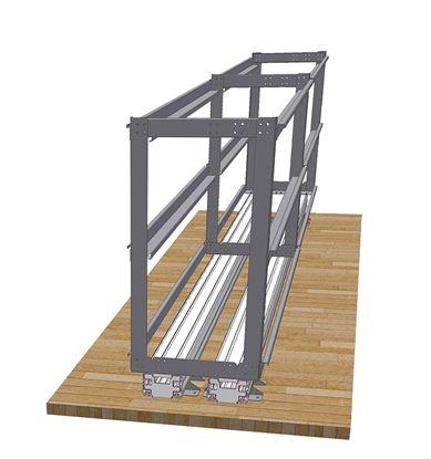 Regalni sistem za garaže v zadnjem delu vozila Load Move