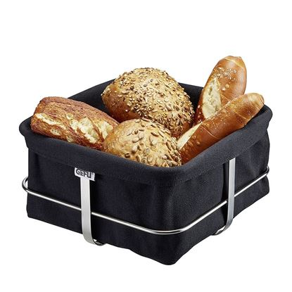 Košara za kruh Brunch, pravokotna, črna