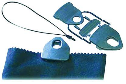 Tornado klip-sponka z elastičnim veznikom črna
