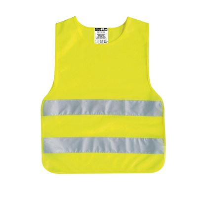 Varnostni brezrokavnik otroški, rumen