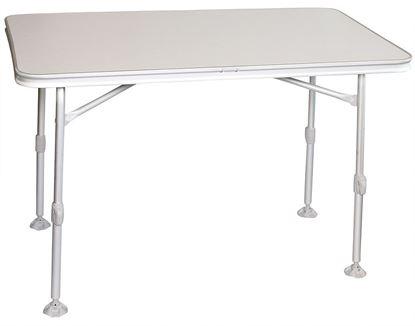 Aluminijasta miza s ploščo iz umetne mase