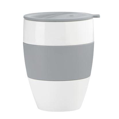 Termo lonček s pokrovom Aroma To Go 400 ml barva Solid Cool Grey