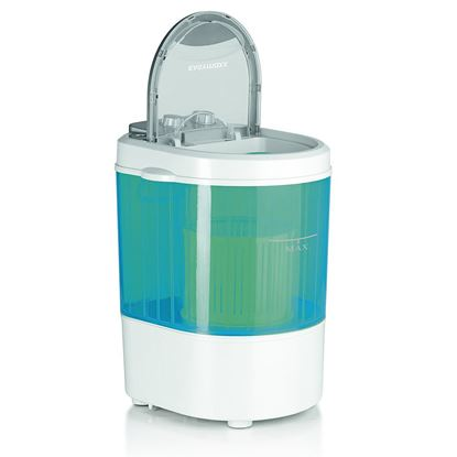 Mini pralni stroj 260 W bel/moder