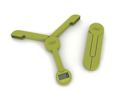 Tehtnica Tri Scale, zložljiva, digitalna, zelena