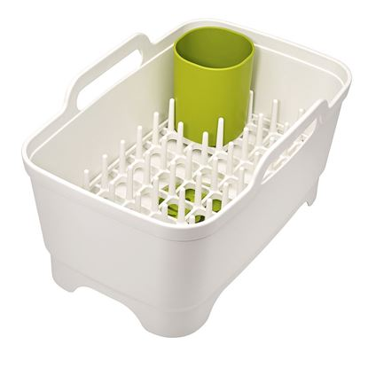 Posoda za pomivanje in odcejanje posode Wash & Drain Plus bela/zelena