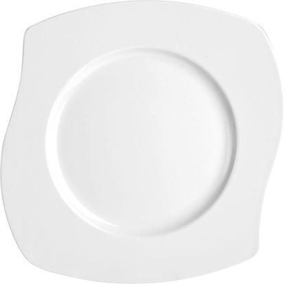 Desertni krožnik Petal 20,5 x 20,5 cm bel