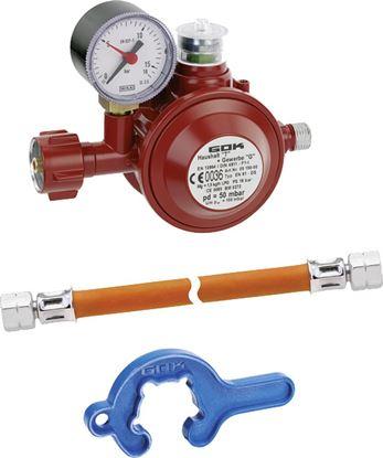 Regulator - set EN61 DS G 1/4 LH-ÜM x G 1/4 LH-ÜM x 400 mm