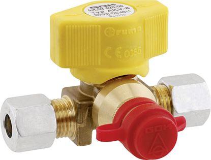 Spojni ventil, T-oblika, RVS 8 x zatični spoj