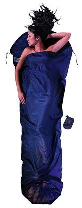 Lahka potovalna spalna vreča oblika mumije, 241 x 90/56 cm tuareška svila / bombaž