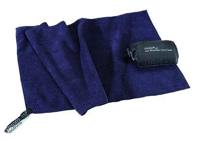 Potovalna brisača mikro tkanina Terry Towel Light Dolphin Blue