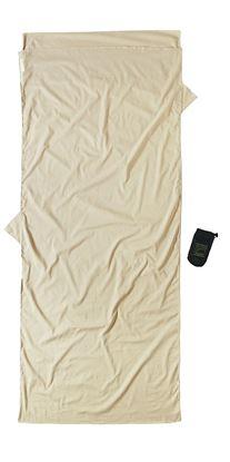 Lahka potovalna spalna vreča, egipčanski bombaž z impregnacijo proti insektom 210 x 82 cm pesek