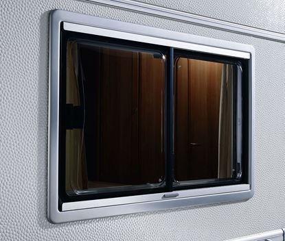 Drsno okno S4, krem belo