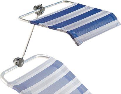 Senčnik za stole/ležalnike, brezstopenjsko nastavljiv,  azur/siv