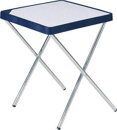 Miza s snemljivimi aluminijastimi nogami