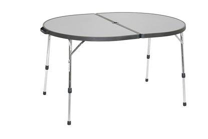 Ovalna miza, aluminij